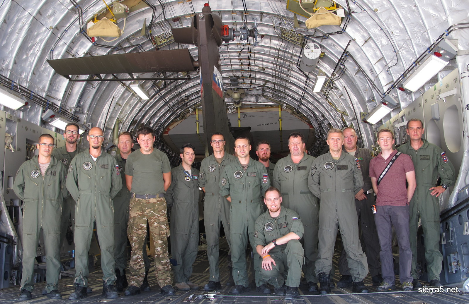 The team that successfully loaded the helicopter