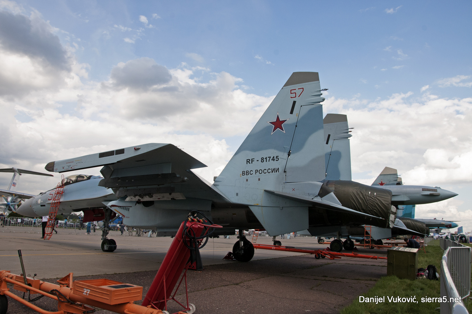 Su-35S on the static display