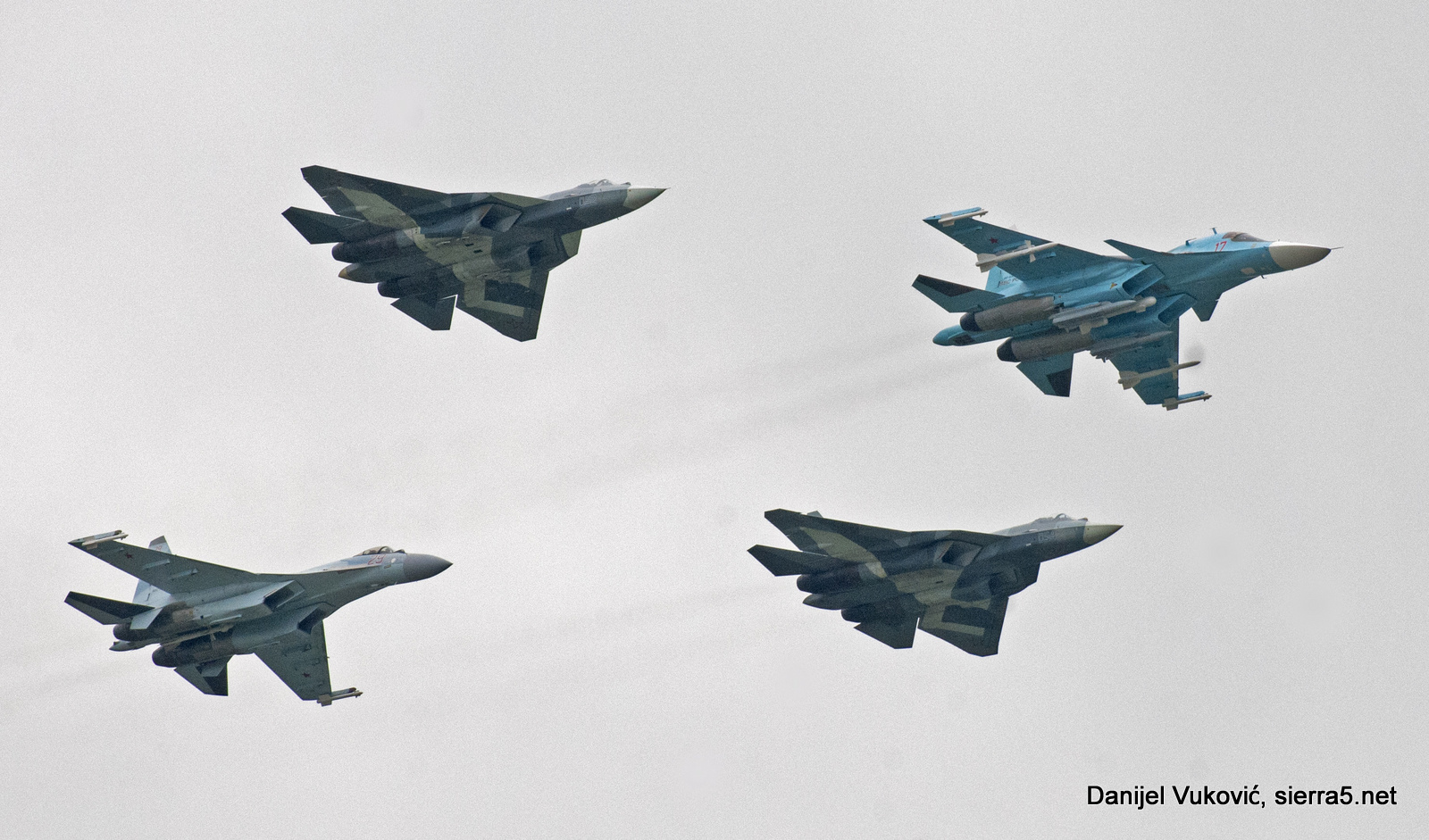 Backbone of today and future of the Russian Air and Space Forces; Su-57s, Su-34 and Su-35S