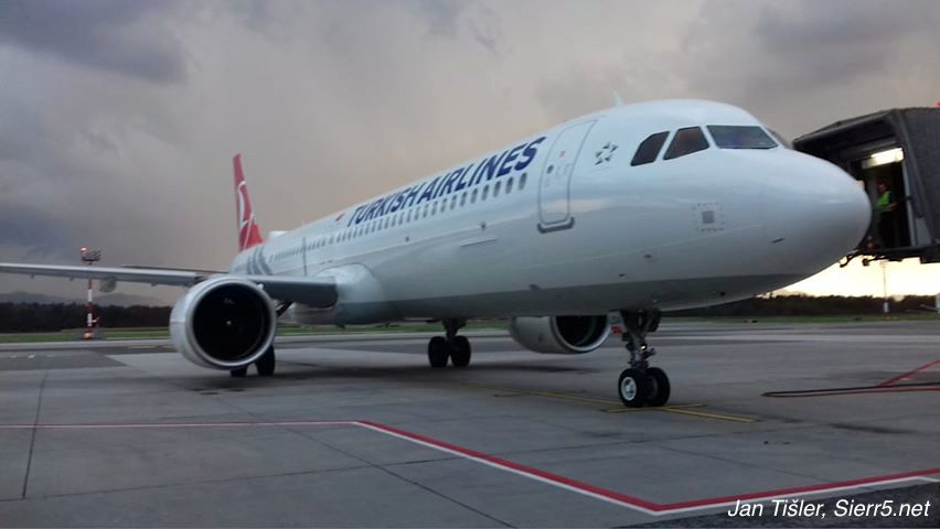 Turkish Airlines; Airbus A321neoACF; Ljubljana