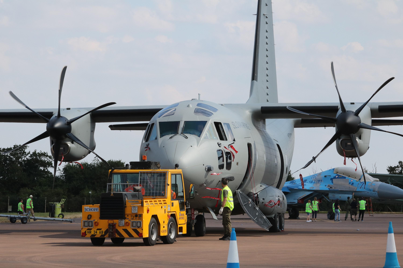 Transportno letalo C-27J Spartan za Slovensko vojsko
