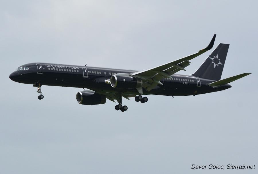 V Ljubljani pristal luksuzni Boeing 757