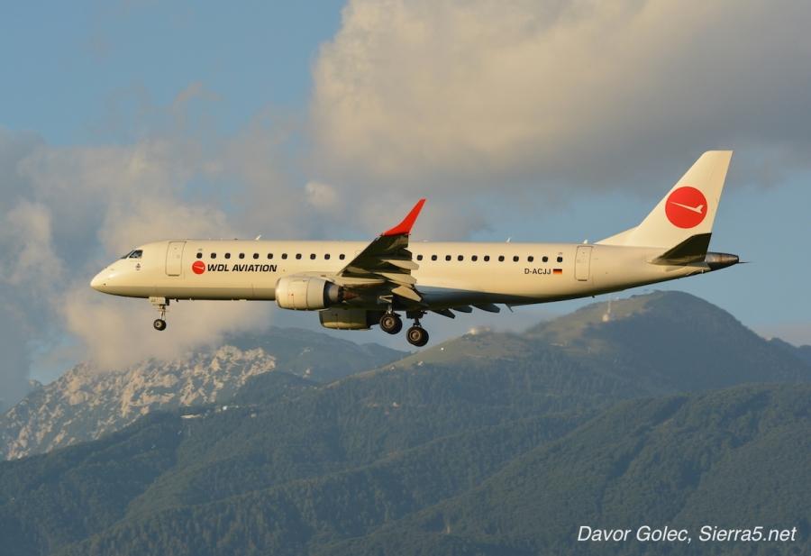 Adria Airways najela Embraerja E190