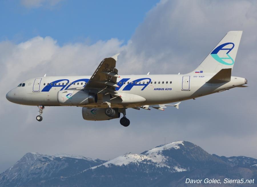 Adriina Airbusa A319 bosta letela za Turkish Airlines