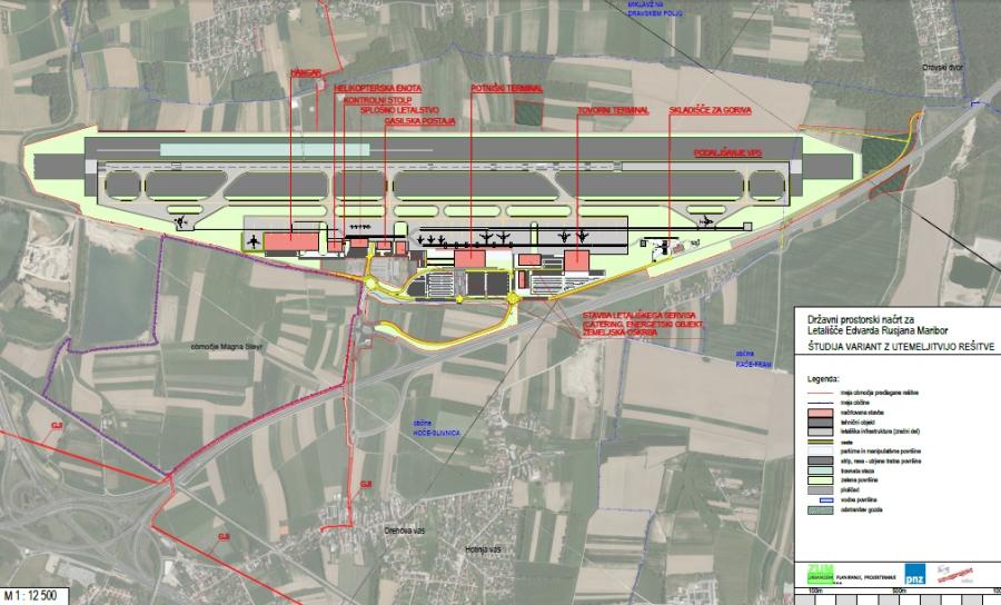 Jutri bodo razgrnili predlog DPN za Letališče Edvarda Rusjana Maribor