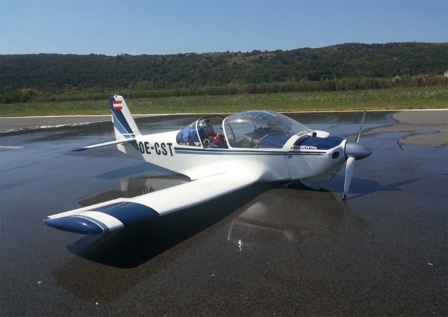 Na letališču Portorož letalo pristalo na trup