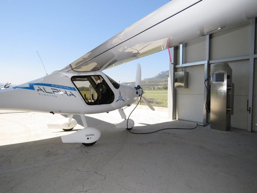 Pipistrel, in cooperation with students, developed the first charging station for electric airplanes