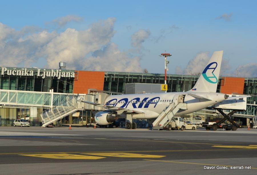 Adria Airways februarja prepeljala manj potnikov kot lani