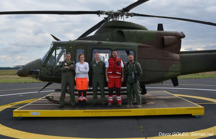 Prva intervencija helikopterja Slovenske vojske iz Maribora