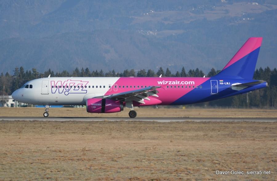 Wizzair najavlja novo letalsko povezavo iz Ljubljane