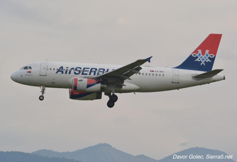 Air Serbia povečuje število letov iz Ljubljane v Beograd
