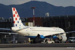 Croatia Airlines in Trade air s slovenskimi navijači v Pariz