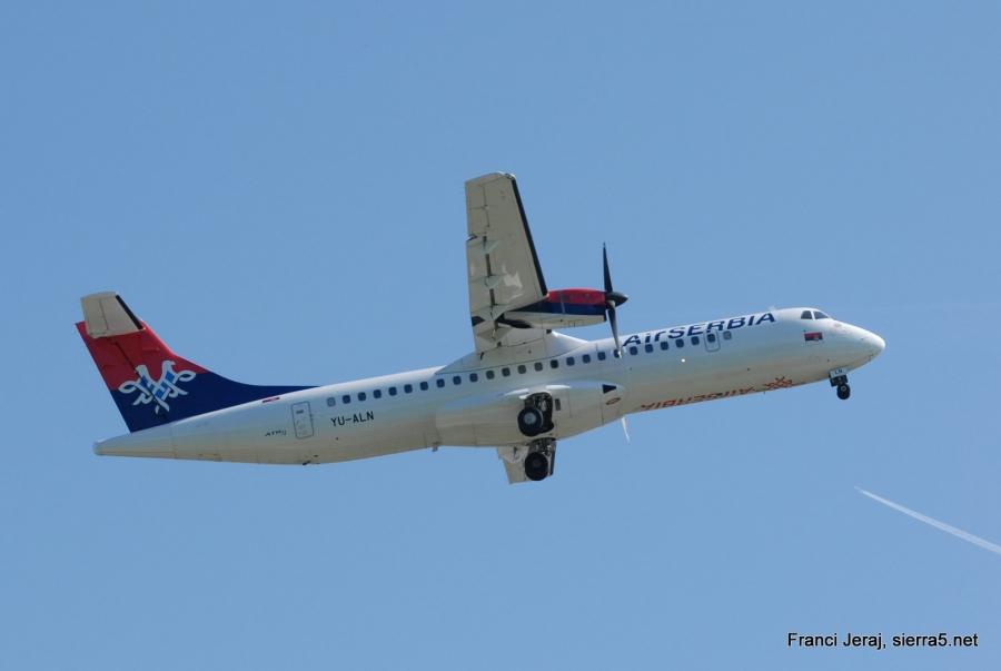 Air Serbia v Ljubljano tudi iz Niša