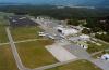 Pogled na letališki kompleks v začetku devetdesetih let